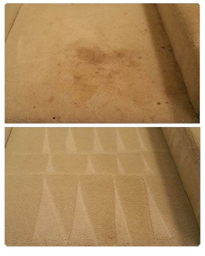 carpet cleaning fort myers - before/after 1