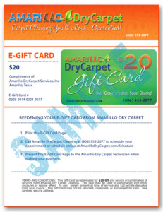 Amarillo Dry Carpet Cleaning - Free E-GiftCard