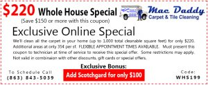carpet cleaning coupon - labelle, fl - whole house carpet cleaning special